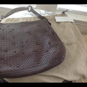 Bottega Veneta brown medium woven leather hobo bag
